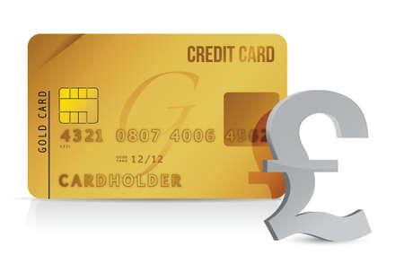 Pound credit card concept illustration design over white Stock Vector - 15987988