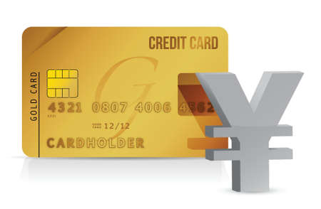 yen credit card concept illustration design over white