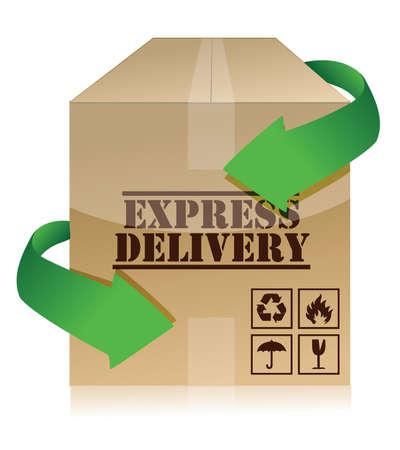 sack truck: express delivery concept illustration design over white Illustration