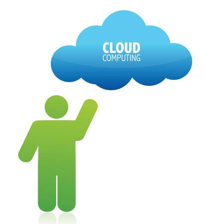 cloud computing illustration design over white background Stock Vector - 15987910