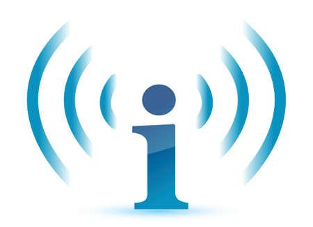 wifi info illustration design over white background Stock Vector - 15987862
