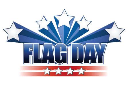 forth: US flag day stars illustration design over white