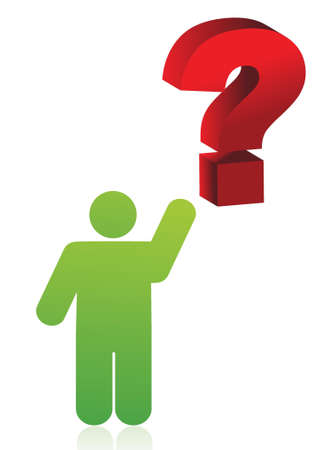 icon pointing a question mark illustration design over white background