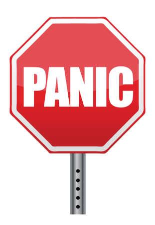 paniek: paniek stopteken illustratie ontwerp op een witte achtergrond