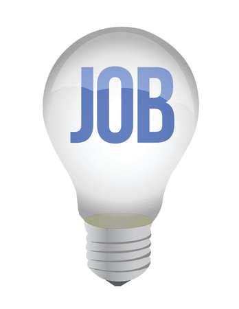 lightbulb with the word job inside - illustration design Stock Vector - 15988043