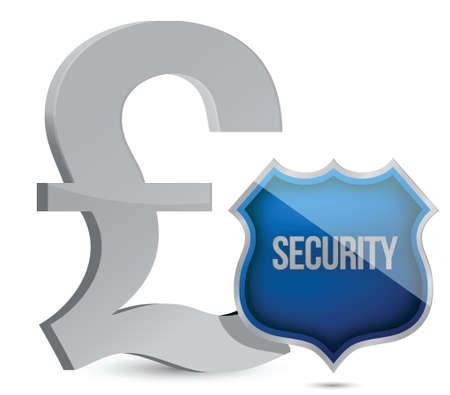 pound protected concept illustration design over white Stock Vector - 15988074