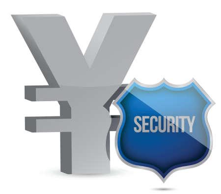 yen protected concept illustration design over white Stock Vector - 15987944