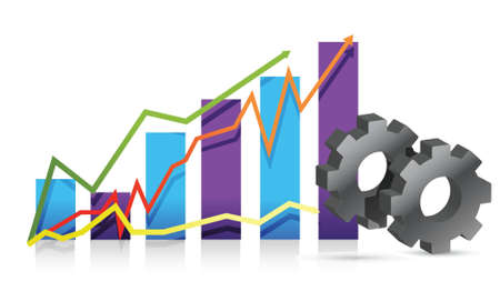 economies: design illustration vitesse graphique sur fond blanc