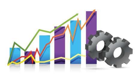economie: versnelling grafiek illustratie ontwerp op een witte achtergrond