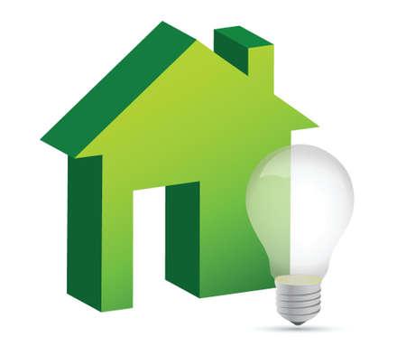 house with a lightbulb illustration design over white Stock Vector - 15988090