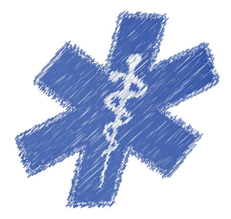 scribble medical symbol illustration design over white background Stock Vector - 15987951