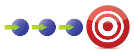 attain: steps to the target illustration design over white Illustration