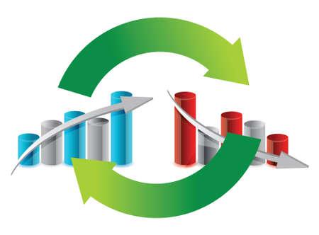 De haut en bas design illustration graphique du cycle sur blanc Banque d'images - 15987948