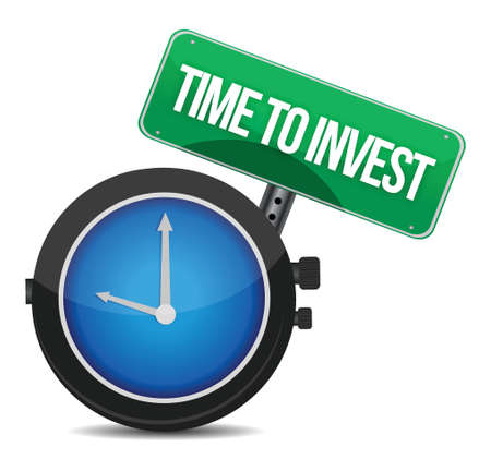 Time to invest concept illustration design over white Stock Vector - 15988095