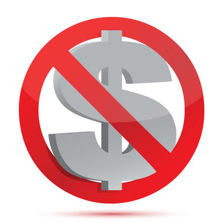 no money concept illustration over white background Stock Vector - 16035395