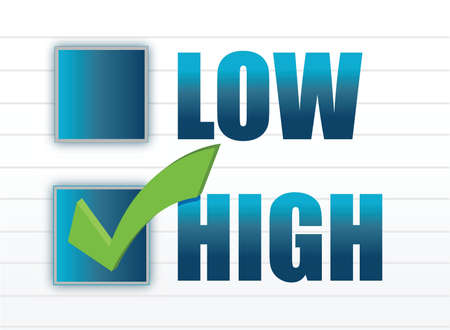 chose between low and high illustration design Vector
