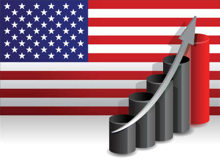 nasdaq: US economy improving business graph illustration design