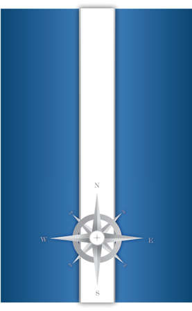 blue and white compass illustration design background Stock Vector - 16082602