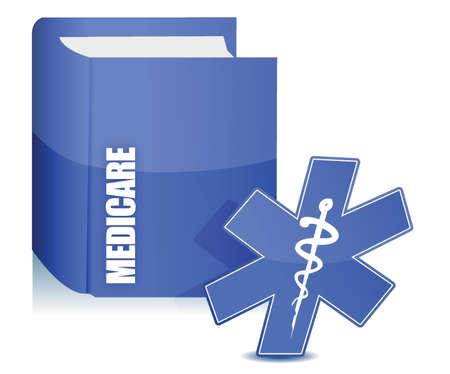 medicare boek illustratie over een witte achtergrond