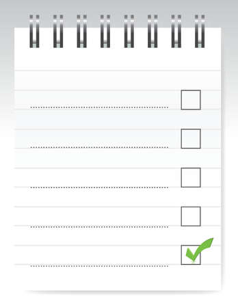NotePad checklist illustration design over a light background Stock Vector - 16082262