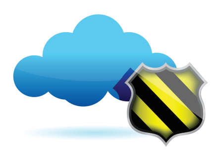 depend: cloud computing protection illustration design over white