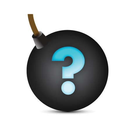 question mark bomb illustration design over white Stock Vector - 16116846