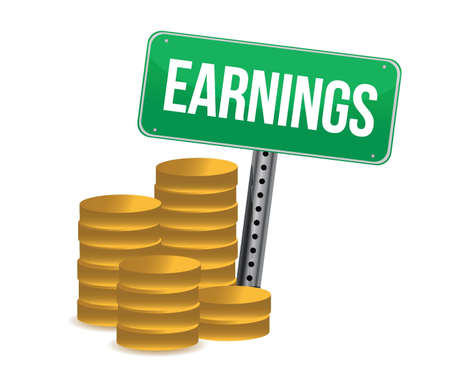 earnings: earnings illustration design over white a background Illustration