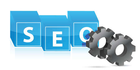 seo gears illustration design over white background Stock Vector - 16116642