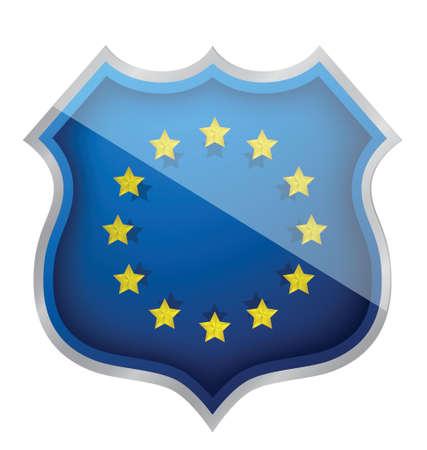european shield illustration design over white background Stock Vector - 16116845