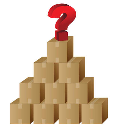 boxes and a question mark in top illustration design Stock Vector - 16117557
