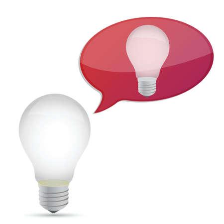 idea concept illustration design lightbulb over white Illusztráció
