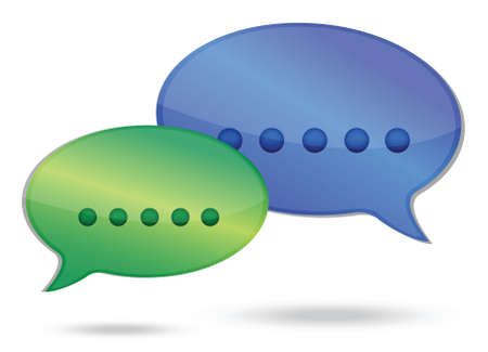 communication concept illustration design over white background Stock Vector - 16117553