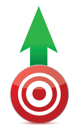 arrow and target illustration design over white background Stock Vector - 16117449