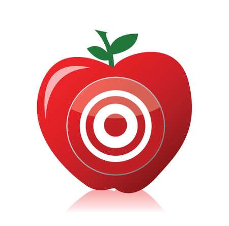 the shaft: apple target illustration design over white background