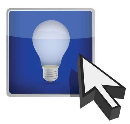 idea button illustration design over white background Stock Vector - 16140475