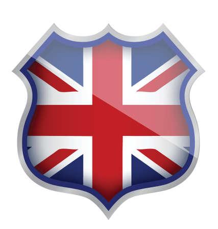 Uk inglaterra escudo diseño ilustración más de blanco Foto de archivo - 16140477