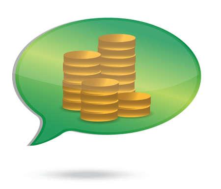 thinking in money coins illustration design over white Stock Vector - 16140870