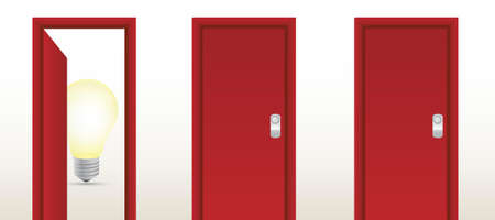 think tank: door leading to great ideas illustration design concept