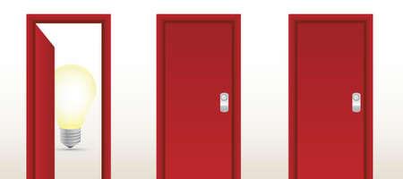 door leading to great ideas illustration design concept Stock Vector - 16140860