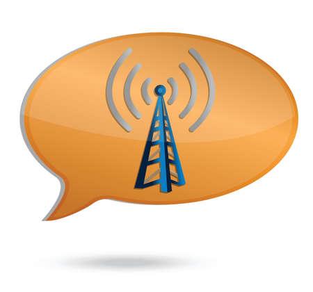 wifi bubble toren illustratie ontwerp op een witte achtergrond