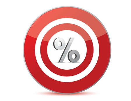sales person: target discounts percentage sign illustration design