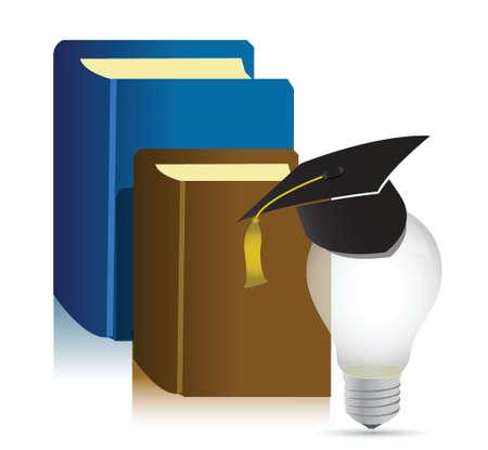 toga: educación libros idea ilustración diseño sobre fondo blanco