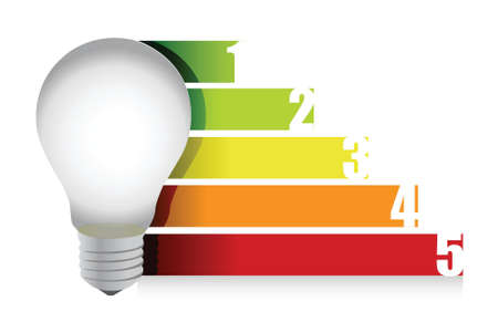 norm: lightbulb graph illustration design over white background