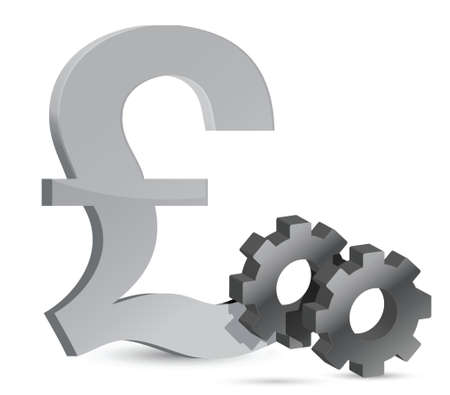 pounds: pound gears illustration design over white background