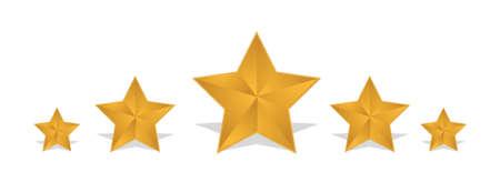 rating gold stars illustration design over white background Stock Vector - 16190623