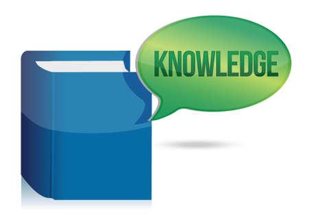 knowledge book illustration concept design over white Stock Vector - 16190823