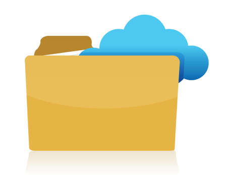 storage: folder cloud storage concept illustration design over white Illustration