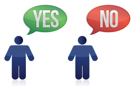 yes or no: yes and no icon illustration design over white background