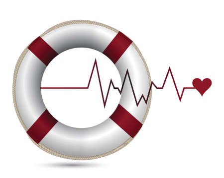 life support: sos lifeline health care illustration design over white