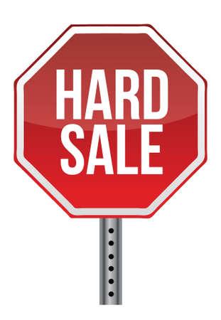 persuasive: hard sale sign illustration design over white